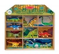 Набор динозавров Melissa&Doug 2666M (9 динозавров  с войлочным покрытием)