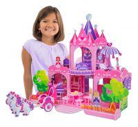Кукольный домик 3 D для девочек  (настоящий РОЗОВЫЙ ЗАМОК!)