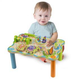 Развивающая доска-стол для игры в джунгли для малышей от 10-12 мес.