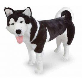 Мягкая игрушка собака Хаски - плюшевый домашний пес (США, Melissa&Doug, 2111M_md)