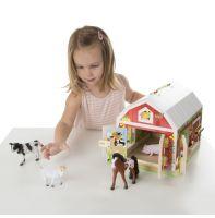 """Дом с замочками и животными, бизиборд """"Деревянные игрушки""""  (5 эл, США)"""