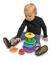 Мягкая игрушка-пирамидка Радуга (со звуковыми эффектами)