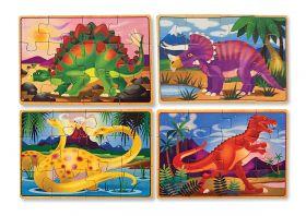 Деревянные пазлы в коробке – Динозавры 3791 (4 пазла в 1 наборе)