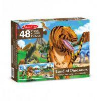 Напольный пазл Динозавры Melissa&Doug 442 (большой напольный пазл для детей)