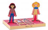 """Набор для девочек на магнитах """"Одень Эббу и Эмму"""" (придумай модный наряд и переодень кукол)"""