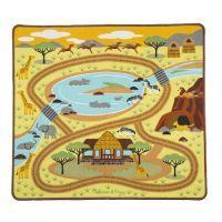 """Напольный коврик для игр """"Сафари 99*84 см"""" + набор животных с грузовиком в комплекте"""