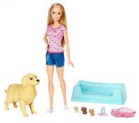 Набор кукла и собака с новорожденными щенками (Mattel Inc FBN17)